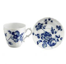 Richard Ginori Rose Blue Coffee Cup & Saucer 125cc/13cm